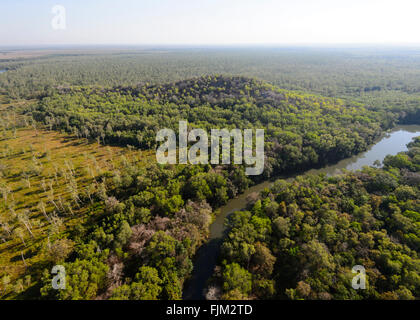 Aerial view of the Landscape near Darwin, Northern Territory, Australia - Stock Photo