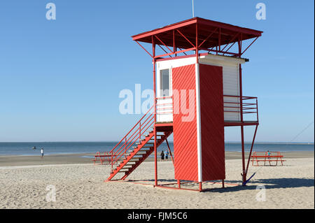 geography / travel, Estonia, Pärnu, beaches, outlook for lifeguards, exterior view, Additional-Rights-Clearance-Info-Not-Available