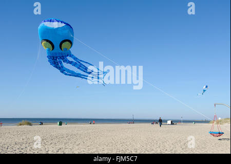 geography / travel, Estonia, Pärnu, beaches, kite in shape of an octopus, Additional-Rights-Clearance-Info-Not-Available