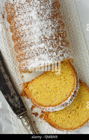 Dolce Varese, made with corn flour and ground almonds, from Varese, Lombardy, Italy - Stock Photo