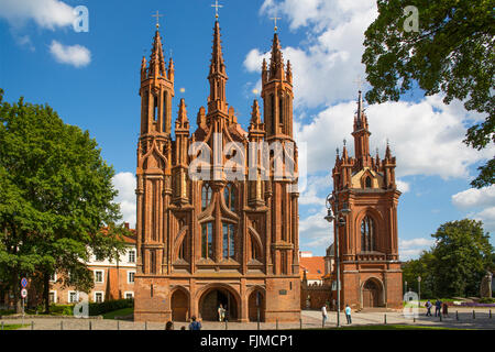 geography / travel, Lithuania, Vilnius, Church of St. Ann, Gothic quarter, Additional-Rights-Clearance-Info-Not - Stock Photo