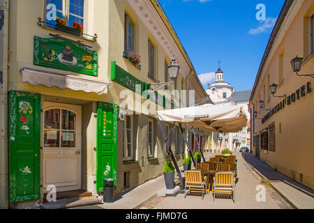 geography / travel, Lithuania, Vilnius, alley in the old town, Additional-Rights-Clearance-Info-Not-Available - Stock Photo