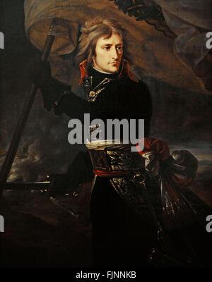 Napoleon Bonaparte (1769-1821). Emperor of the French (1804-1815). Napoleon Bonaparte at the Pont d'Arcole, 1796. - Stock Photo
