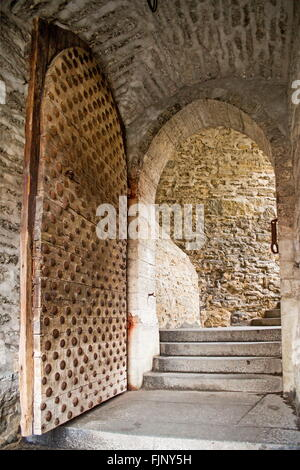 geography / travel, Estonia, Tallinn, gate of the city wall, Additional-Rights-Clearance-Info-Not-Available - Stock Photo