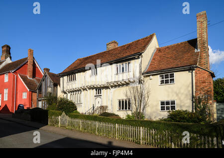 A house in the picturesque market town of Lavenham, Suffolk, England, UK. - Stock Photo