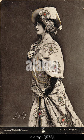 Edwardian era Postcard Actress & Singer Lily Brayton - Stock Photo