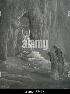 Dante's purgatory, part of his Divina Commedia / Divine Comedy. Illustration by Gustave Doré. Canto IX line 74 'In - Stock Photo