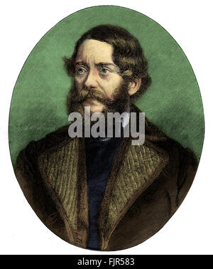 Lajos Kossuth - portrait. Hungarian lawyer, journalist, politician and Regent-President of Hungary in 1849. 19 September - Stock Photo