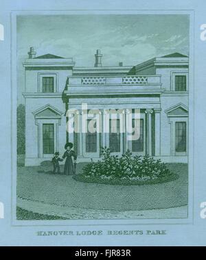 Hanover Lodge, Regent's Park, London, 1835 - Stock Photo