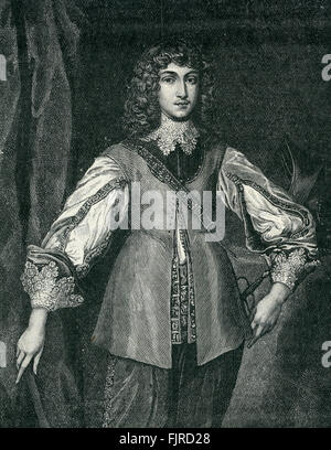 Prince Rupert (1619 – 1682), commander of the Royalist cavalry during the English Civil War, until 1648 (1642–1651). - Stock Photo