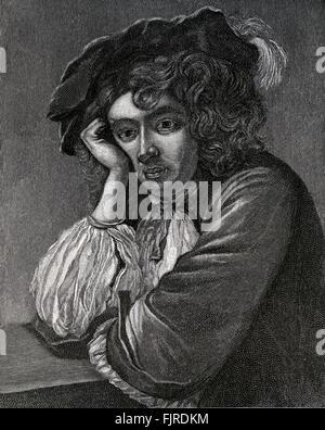 Rupert of the Rhine. Self- portrait.  (Rupert, Count Palatine of the Rhine, Duke of Bavaria, Duke of Cumberland, - Stock Photo
