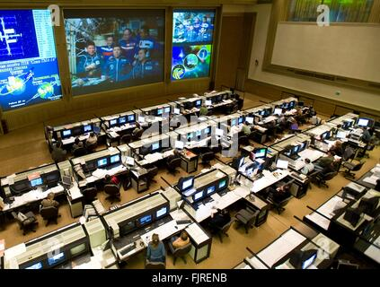 Russian Mission Control Center in Korolev, outside Moscow ...