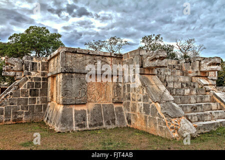 Platform of the Eagles and Jaguars Chichen Itza Mexico - Stock Photo
