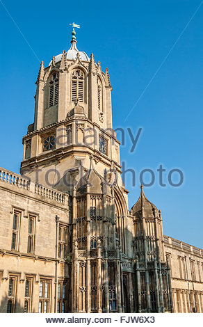 Tom Tower Christ Church College, Oxford, Oxfordshire, England, UK - Stock Photo