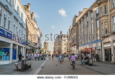 Historical town center of Oxford, Oxfordshire, England | Historisches Stadtzentrum von Oxford, England - Stock Photo