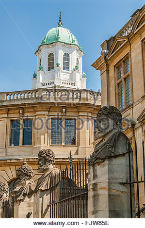 Sheldonian Theatre in Oxford, England, built from 1664 to 1668 for the University of Oxford, Oxfordshire, England - Stock Photo