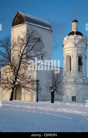 View of St. George Bell Tower in Manor Kolomenskoe in Moscow city, Russia - Stock Photo