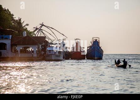 Chinese Fishing Nets Fort Kochi Kerala India - Stock Photo