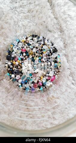 Full Frame Shot Of Semi-Precious Gems In Container - Stock Photo