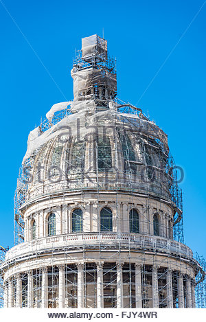 El Capitolio, or National Capitol Building being under repair, The building is one of Cuba most famous tourist landmark - Stock Photo