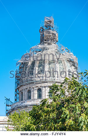 El Capitolio, or National Capitol Building being under repair, This building is one of Cuba most famous tourist - Stock Photo