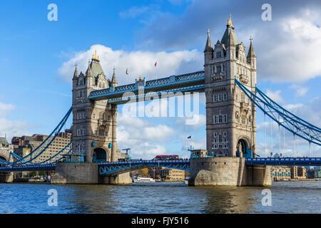 Tower Bridge, London, England, UK - Stock Photo