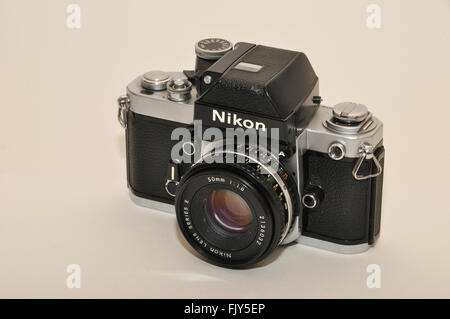 Nikon F2 Photomic A, 35mm, SLR camera 1977-1980 - Stock Photo