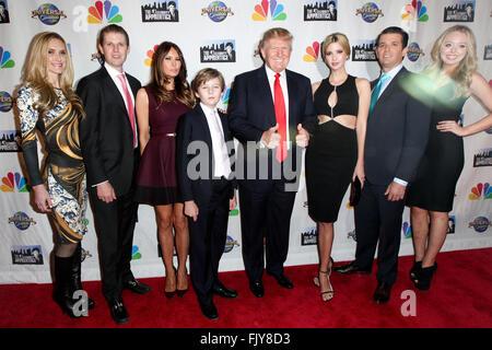Lara Yunaska, Eric Trump, Melania Trump, Barron Trump, Donald Trump, Ivanka Trump, Donald Trump Jr. and Tiffany - Stock Photo