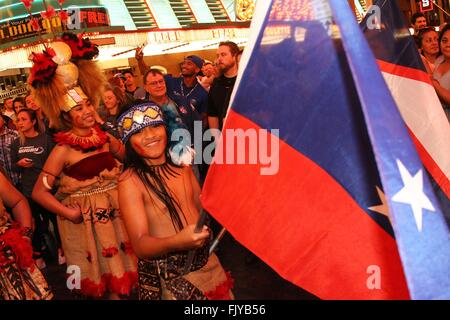 Las Vegas, NV, USA. 3rd Mar, 2016. Samoa Sevens Rugby team flag bearer in attendance for Olympic Rugby Players Kick - Stock Photo