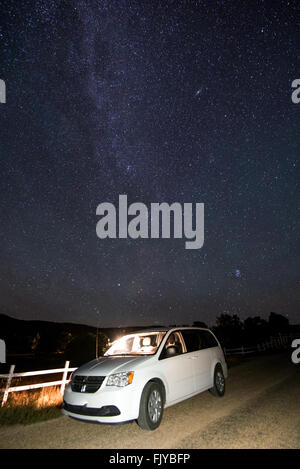 Beautiful milky way in the dark night - Stock Photo