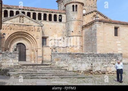 Colegiata de Santa Juliana, romanesque style, Santillana del Mar,Cantabria,Spain. - Stock Photo