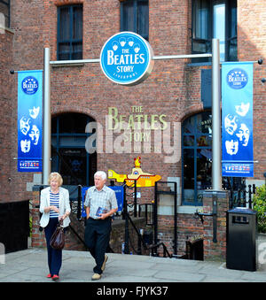 The Beatles story museum at the Albert Dock complex in Liverpool, England, UK - Stock Photo