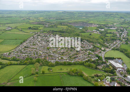 An aerial view of the Gloucestershire village of Wick - Stock Photo