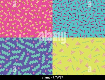 80s 90s Abstract Backgrounds - Stock Photo