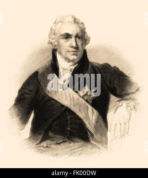 Sir Joseph Banks, 1st Baronet, 1743-1820, a British naturalist, botanist and patron of the natural sciences - Stock Photo