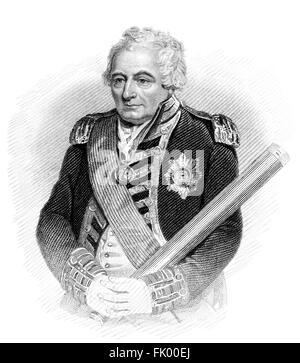 Admiral of the Fleet John Jervis, 1st Earl of St Vincent, 1735-1823, an admiral in the Royal Navy - Stock Photo