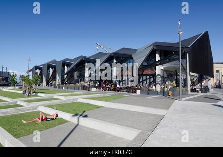 Oldins Plaza, Wellington Waterfront, North Island, New Zealand - Stock Photo
