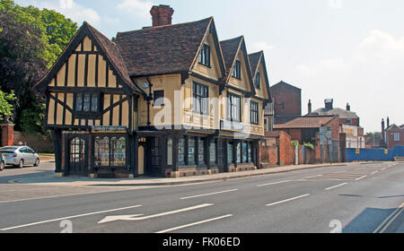 Ipswich, Tudor Style Timber Framed Building, now a Estate Agents, Suffolk, East Anglia, England, - Stock Photo