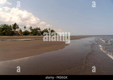 sandy Lovina Beach, Lovina, Bali, Indonesia - Stock Photo