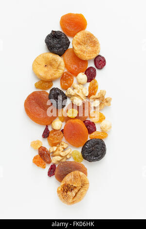 Assorted dried fruits and nuts - Stock Photo