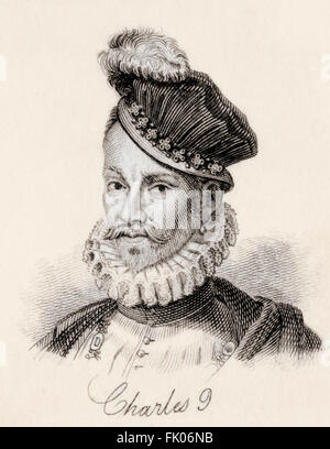 Charles IX, 1550 – 1574.  King of France. - Stock Photo