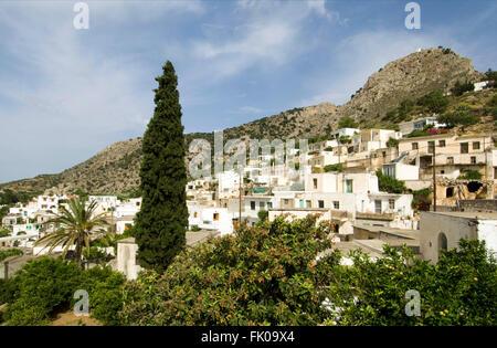Griechenland, Kreta, Makrigialos, das schöne Bergdorf Pefki - Stock Photo