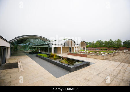Kew Millennium Seedbank, West Sussex, UK. External view of Millenium seed bank visitor's centre. Stock Photo