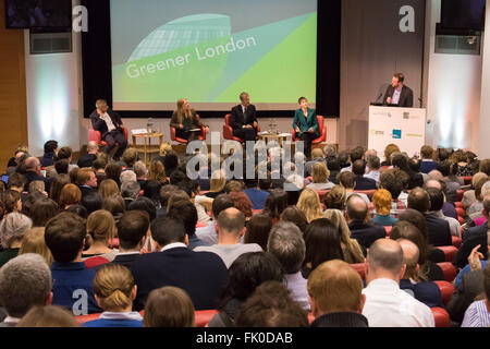 Royal Society of Medicine, Wimpole Street, London, March 4th 2016. A general view of the Greener London Mayoral - Stock Photo