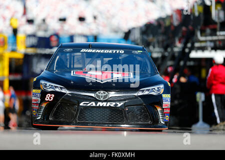 Las Vegas, NV, USA. 4th Mar, 2016. Las Vegas, NV - Mar 04, 2016: Matt Dibenedetto (83) practices for the Kobalt - Stock Photo