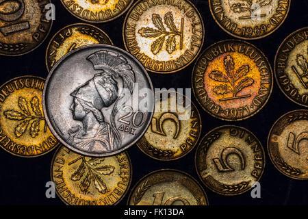 European coinage - Stock Photo