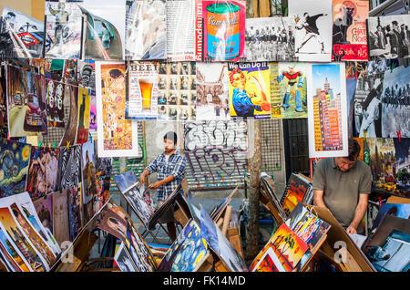 Rastro flea market. Madrid, Spain. - Stock Photo