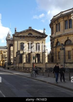 Clarendon Building, next to the Sheldonian theatre in Oxford - Stock Photo