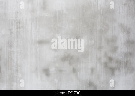 Gray cement wall with dripping water traces, abstract texture background - Stock Photo