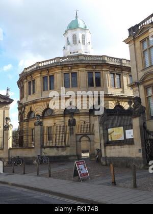 Sheldonian Theatre, Oxford, UK - Stock Photo